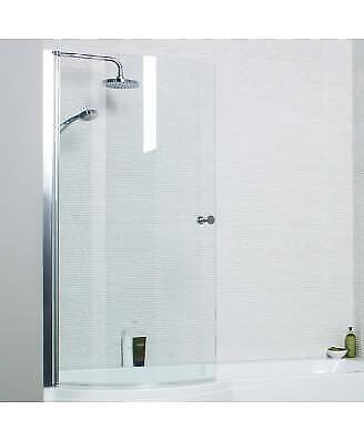 £89.49 • Buy P Shaped Shower Bath SCREEN ONLY 6mm Tough Clear Glass Easy Clean Bathroom