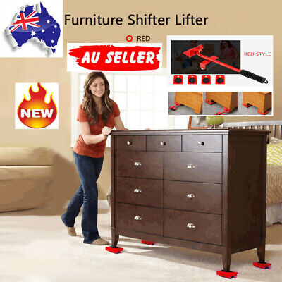AU18.19 • Buy 5Pcs Furniture Lifting And Moving Roller Tool Set Furniture Lifter Slider Movers