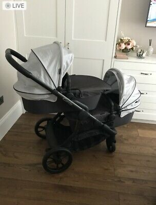 Icandy Orange Twin Double Pushchair Comes With Travel System KiddyEvolution2 • 400£