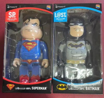 $630 • Buy Superman & Batman Bearbrick 400% Be@rbrick Medicom Toy 2020 Rare Limited Japan