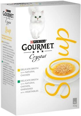 GOURMET Soup Adult Cat Chicken Variety Multipack, 4x40g  Pack Of 10 • 31.39£