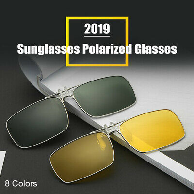 AU13.29 • Buy 1Pc Sunglasses Polarized Clip On Driving Glasses Night Vision Lens UV400 Cool
