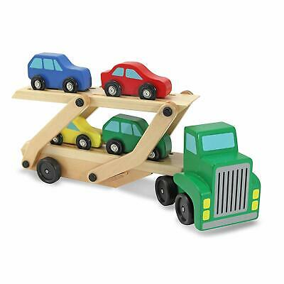 £9.99 • Buy Melissa & Doug Wooden Transporter, Car Carrier Truck Toy Set For 3-6 Years Old