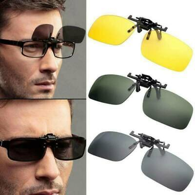 AU22.29 • Buy Unisex Night Vision Fashion Sunglasses Clip On Flip Up UV400 Driving Sun Glasses
