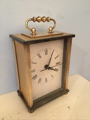 Vintage German Made MANLEY Brass / Onyx ? Mantle Carriage Clock Working • 5£