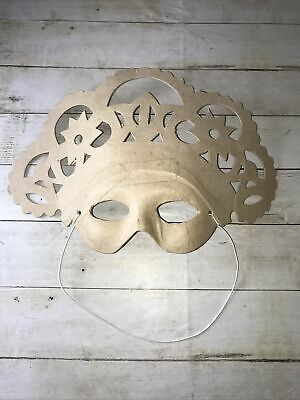 Paper Mache /Decopatch Asian Mask To Decorate For Crafts  • 1.40£