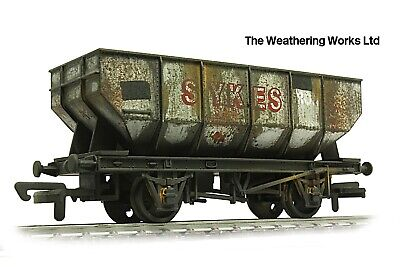 Dapol 21t BR / PO Grey Mineral / Coal Hopper Wagon +optional Load WEATHERED LOOK • 19.99£