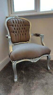Antique Silver French Style Chair  • 80£