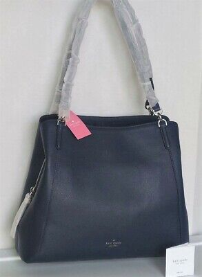 $ CDN201.25 • Buy NWT Kate Spade Jackson Leather Large Triple Compartment Shoulder Tote Nightcap