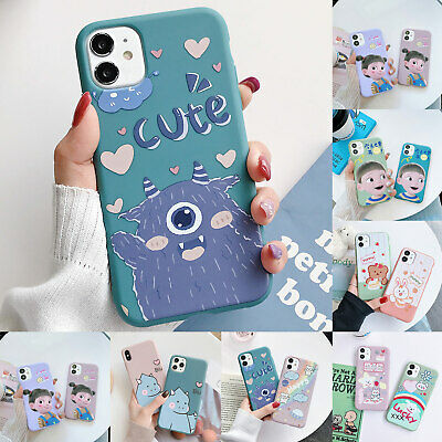 AU7.69 • Buy For IPhone 11 12 Pro Max 12 Mini  XS XR 8 7 Plus Soft Rubber Cartoon Case Cover