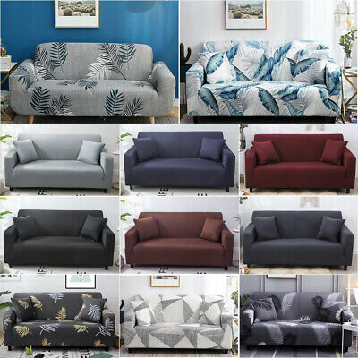 AU14.99 • Buy Sofa Covers 1/2/3/4 Seater High Stretch Lounge Slipcover Protector Couch Cover
