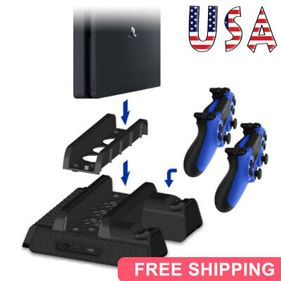 AU38.50 • Buy Vertical Stand&Cooling Fan Controller Charging Dock Station For PS4 Pro/ Slim US