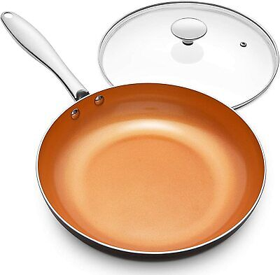 $32.39 • Buy Frying Pan With Lid Nonstick 8 Inch Frying Pan With Ceramic Titanium Coating