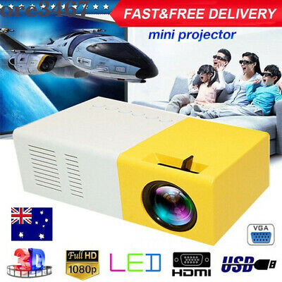 AU62.80 • Buy Mini Portable Pocket Projector HD 1080P LED Home Theater Video Projector HDMI A+