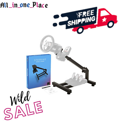 Racing Steering Wheel Stand Gaming Simulator Cockpit - Gear Shifter & Pedal ;) • 129.09£