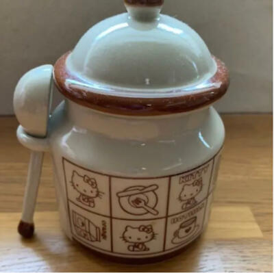 £70.79 • Buy VTG Sanrio Hello Kitty Sugar Bowl With Spoon Salt Container Porcelain