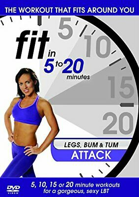 Fit In 5 To 20 Minutes - Legs, Bum And Tum Attack [DVD] DVD (2011) Mila Lazar • 2.76£