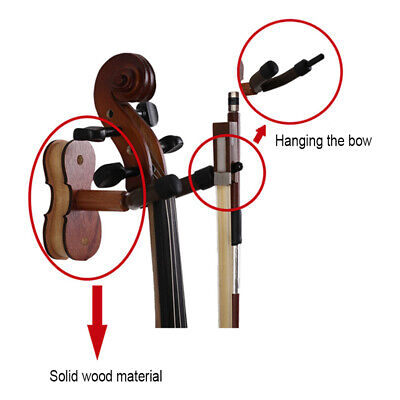 AU16.91 • Buy Wall Mount Violin Hanger Ukulele Hooks Rack Home Studio Display Stand Musical AU