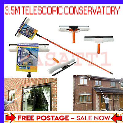 3.5m Telescopic Conservatory Window Glass Cleaning Cleaner Kit With Squeegee  • 20.99£