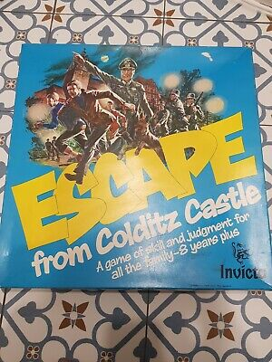 Vintage Escape From Colditz Castle Board Game By Invicta Complete  • 25.50£