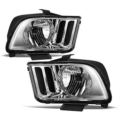 $88.74 • Buy For Ford Mustang 2005-2009 Chrome Housing Clear Corner Headlights Assembly Lamps