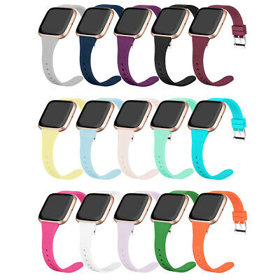 $ CDN3.25 • Buy For Fitbit Versa Band 1/2/Lite Silicone Strap Wristband Comfortable Sports Bands