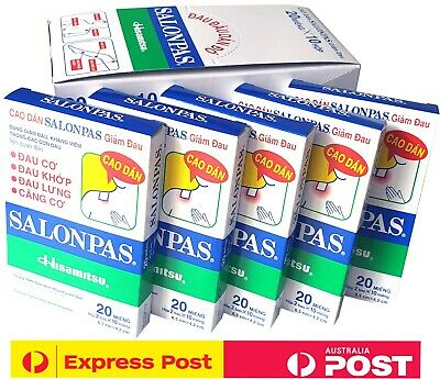 AU44.50 • Buy Salonpas Patch Hisamitsu Pain Relieving | 20 Boxes 240 Patches | EXPRESS POST