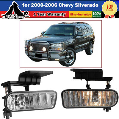 $25.59 • Buy For 00-06 Chevy Suburban/ Tahoe Bumper Fog Lights Driving Lamps Clear