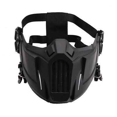$17.58 • Buy TACTICAL Airsoft Outdoor Hunting Paintball Half Face PROTECTIVE MASK Black SALE