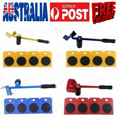 AU16.98 • Buy Heavy Furniture Moving System Lifter Kit With 4Pcs Slider Pad Roller Move Tools