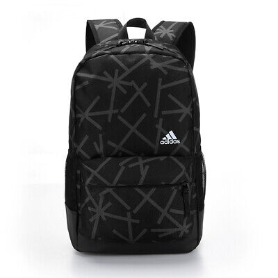 AU44.95 • Buy Adidas Pattern Outdoor Backpack Travel School Bag -  Black