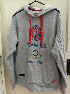 Team GB Olympic Grey Hooded Top Size Small Grey Hoodie • 4.99£