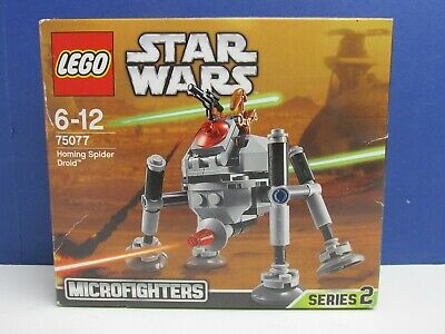 SEALED Lego 75077 Complete STAR WARS HOMING SPIDER DROID Set Microfighters 1759 • 14.93£