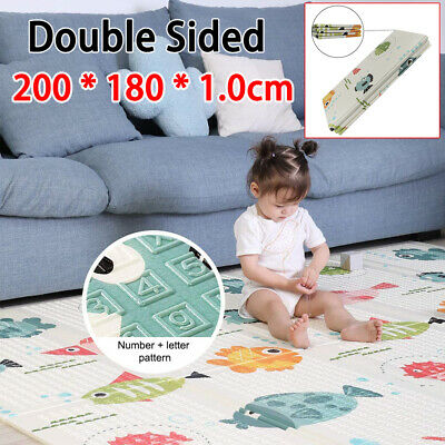 £24.96 • Buy 2 Side Thick Baby Kids Play Mat Crawling Foam Foldable Cartoon Waterproof Carpet