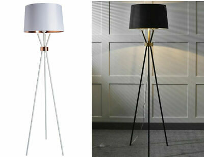 £85 • Buy Tripod Floor Lamp White And Copper / Black And Gold 161 CM