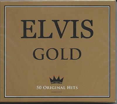 Elvis Presley - Gold - 50 Original Greatest Hits / The Best Of 2CD NEW/SEALED • 5.99£
