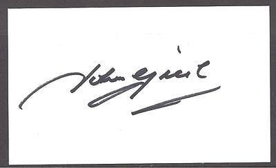 £5.99 • Buy A Plain White Card Signed By John Greig Who Played For Rangers And Scotland.