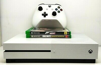 AU295 • Buy Microsoft Xbox One S 1TB White Gaming Console With 1x Controller  2x Games- 1681