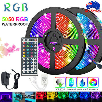 AU20.61 • Buy 5M/10M/20M RGB LED STRIP LIGHTS IP65 5050 12V 44key IR Controller 🔥AU Adapter