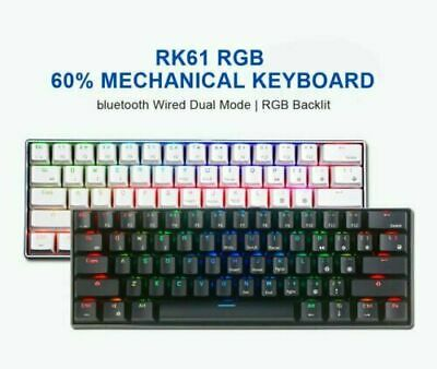 AU80.30 • Buy RK61 Wireless 60% Mechanical Gaming Keyboard Gaming Mouse Bluetooth RGB Backlit