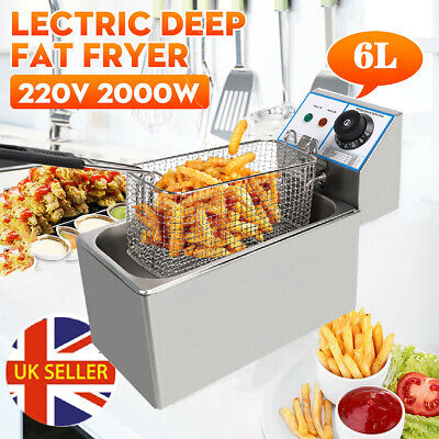 £31.98 • Buy 6L Commercial Electric Deep Fat Fryer Tank Fry Chip Basket Stainless Steel NEW