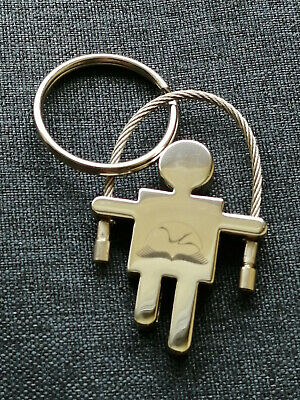 Keychain Robot Men Metal Pendant Skull Silver Color Keyring Chains Charm Jewelry • 2.10£