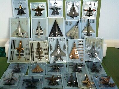 Air Combat Collection GE FABBRI 1:100 Scale Model Aircraft (24 Factory Sealed). • 20£