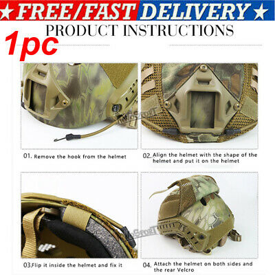 £9.66 • Buy Tactical Military Multicam Camouflage Helmet Cover For FAST Helmet Accessory NEW