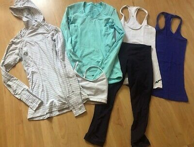 $ CDN58.69 • Buy Lot Of 6 LULULEMON Tank Tops Pullovers Hoodie Bra Crop Pants Size 2/4 Run Lounge