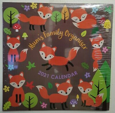 2021 Calendar: Mums Family Organiser /GIFT/ NEW /SEALED / TRACKED DELIVERY/ • 7.49£