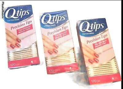$ CDN21.31 • Buy 3 Pack Q-Tips Cotton Swabs Precision Tips 170 Count