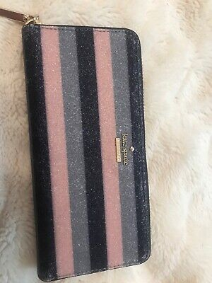 $ CDN20 • Buy Purple Pink Black Sparkly Zipup Kate Spade New York Wallet.Excellent Condition.