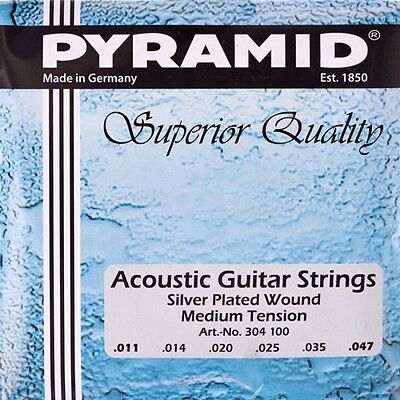 $ CDN9.58 • Buy Pyramid Acoustic Guitar .011 047 Strings Set, Acoustic Silver-Plated