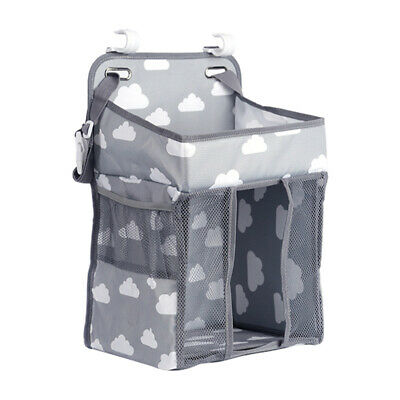 Baby Crib Cot Hanging Storage Bag Diaper Nappy Large Organizer Pocket Foldable • 21.09£